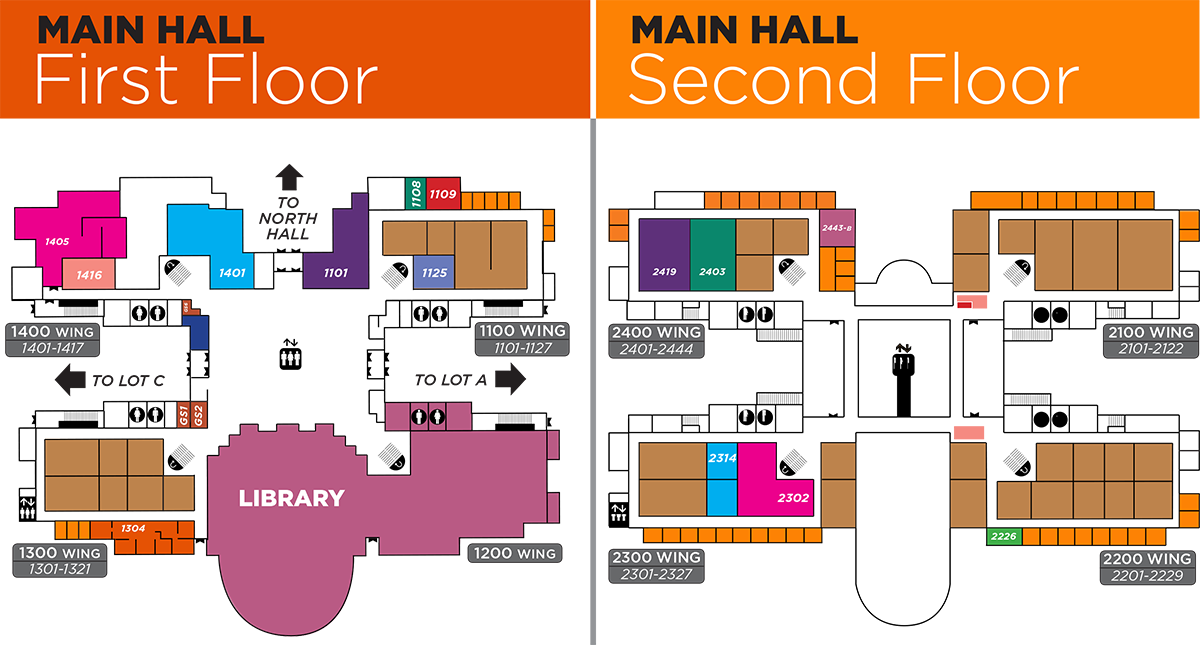 Main Hall Directory Map