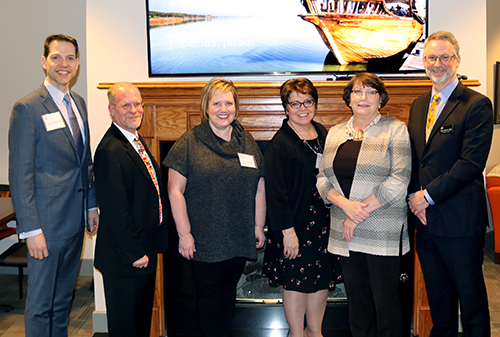 (L to R): TGA Vice Chair Kyden Creekpaum, Vice President of Programs and TGA Interim Director Bob Lieser, TGA Board Chair Alisa Dougless, Sister City Program Coordinator and TGA Administrator Cathy Izzo, OSU-Tulsa Assistant Vice President for Academic Affairs Susan Johnson, OSU School of Global Studies and Partnerships Dean Randy Kluver.