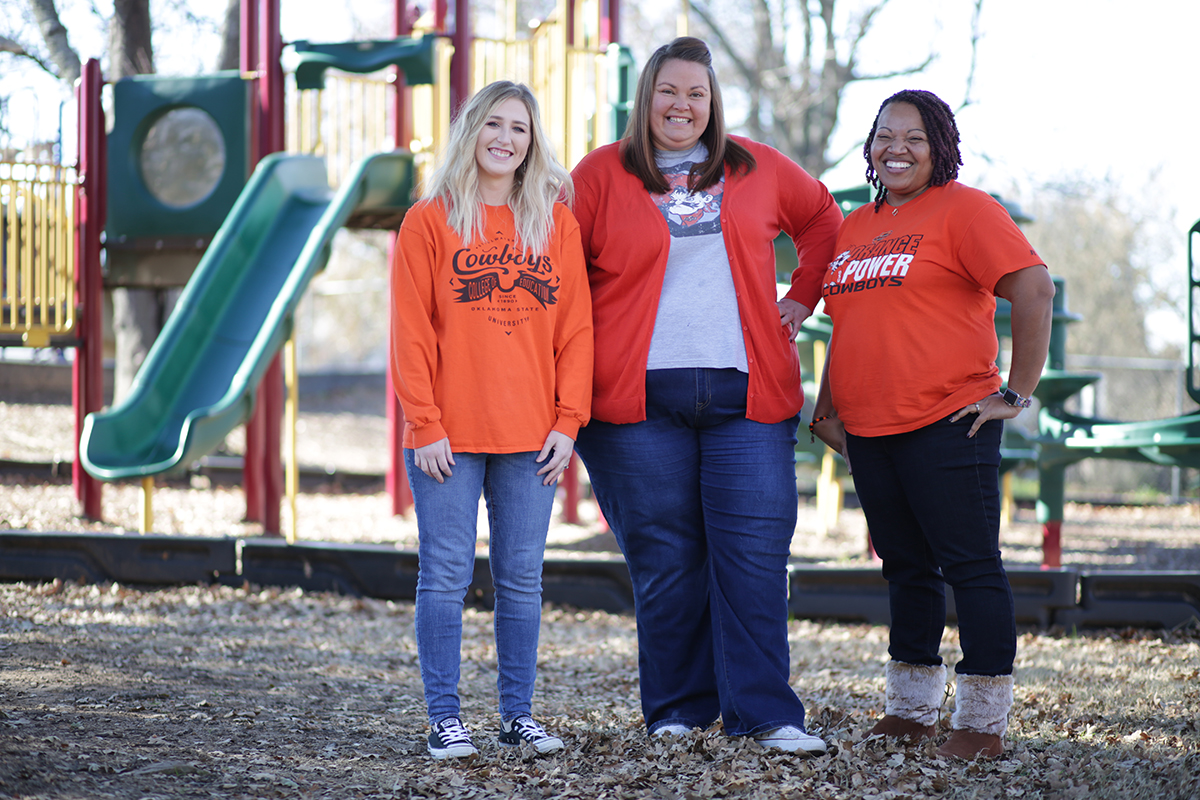 Former OSU-Tulsa classmates and teachers Ali Ryder, left, Sarah Coonce and Andrea Sanders were all recognized as the Teacher of the Year at their respective schools not long after graduating from college.