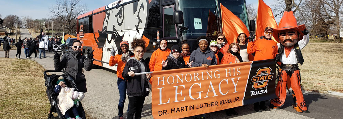 OSU-Tulsa students, faculty and staff participate in the 2019 Tulsa Martin Luther King Jr. Day Parade