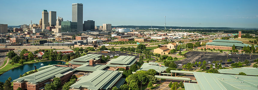 Aerial view of OSU-Tulsa
