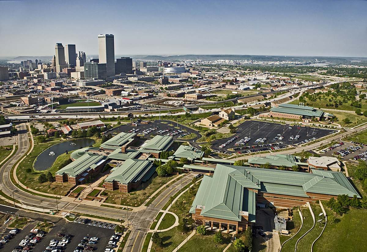 OSU-Tulsa campus and downtown Tulsa