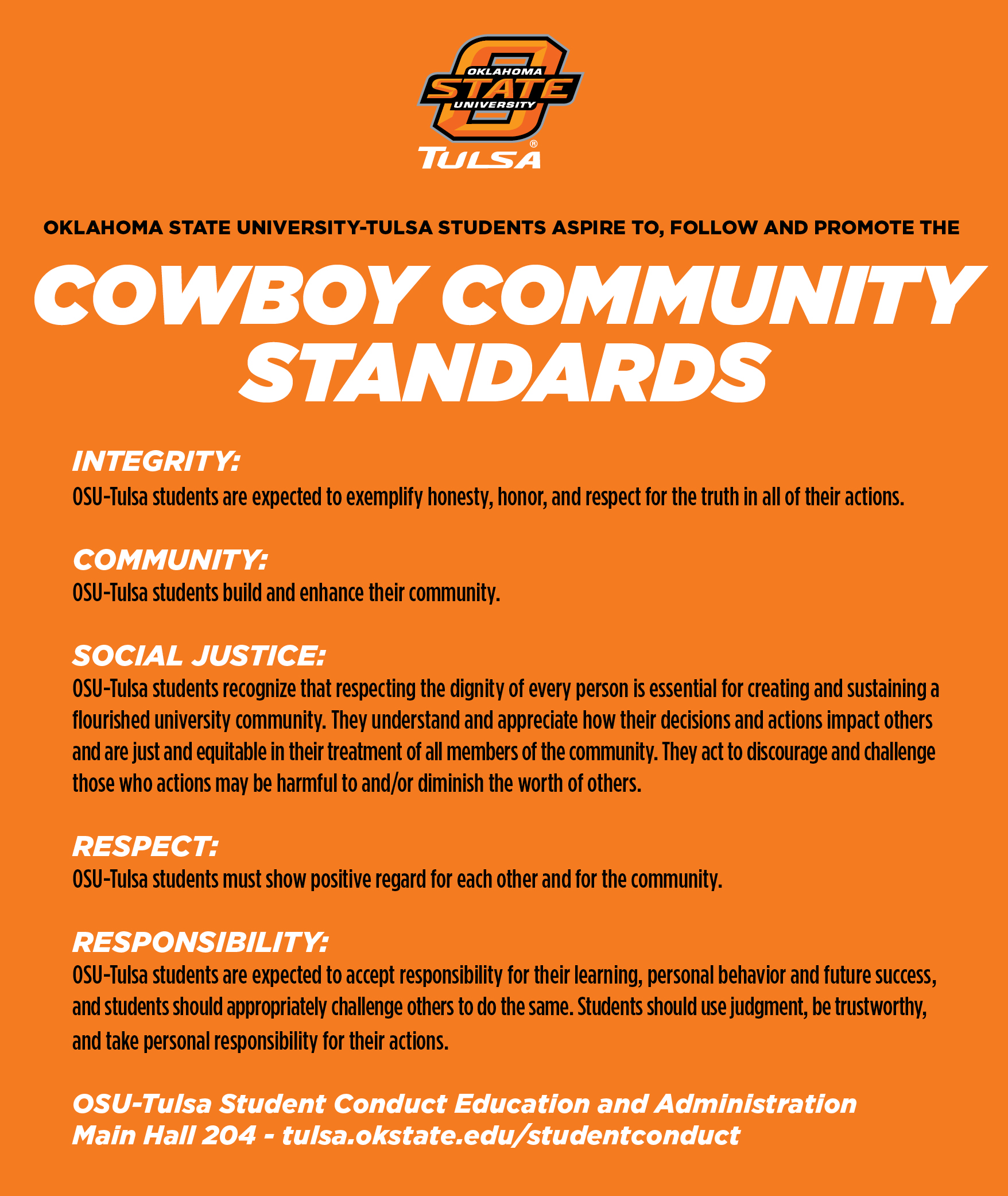 Cowboy Community Standards Graphic - click for text.