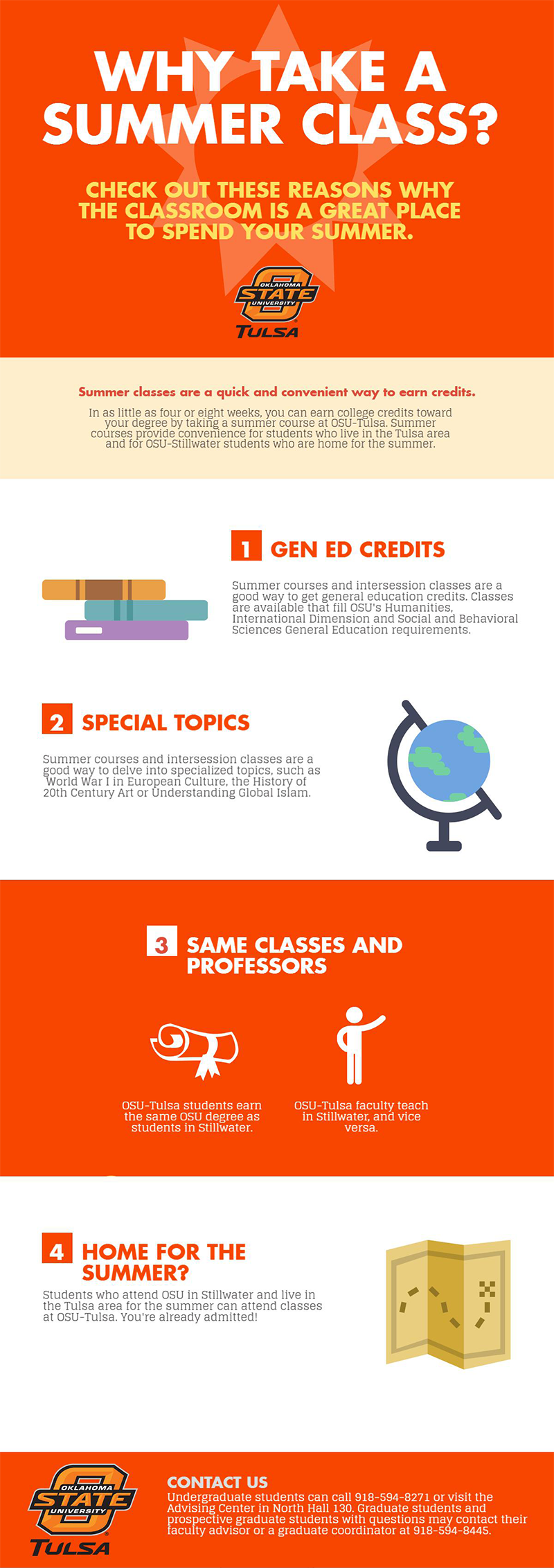 Why take a summer class infographic