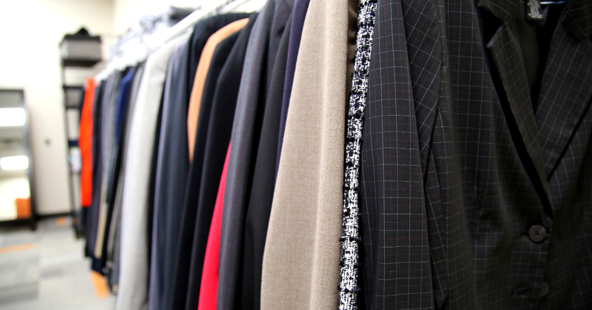 Professional wear available to OSU-Tulsa students in the Career Closet.