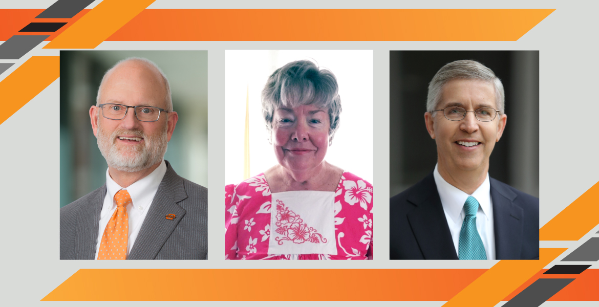 Ron Bussert, Melanie Middlemist and Joe Taylor will be recognized as distinguished alumni by the OSU School of Accounting during the 2021 Wilton T. Anderson Hall of Fame and Awards virtual ceremony April 29.