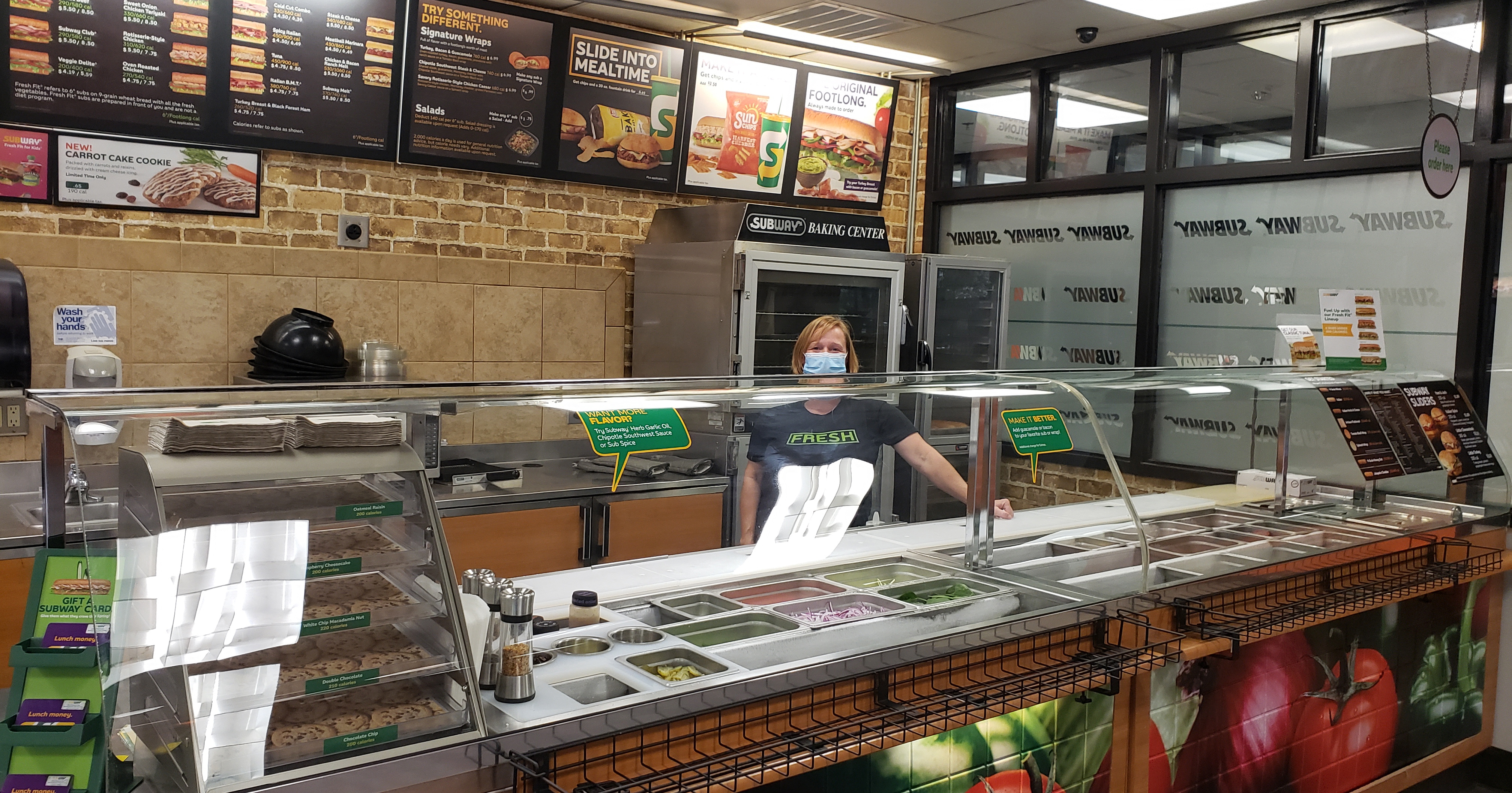 Subway is open for business in North Hall.
