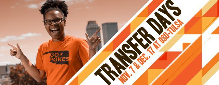 Transfer Days in Tulsa - Nov. 7 and Dec. 17