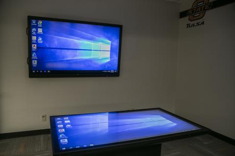 OSU-Tulsa's new data visualization studio is open to students and faculty in the library.