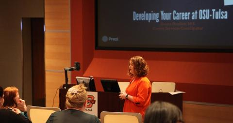 In action: Bradley plays a key role in prospective student events