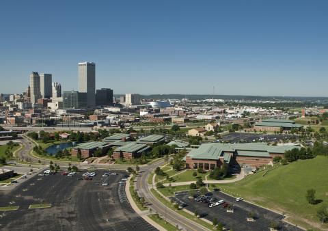 Aerial view of Oklahoma State University-Tulsa