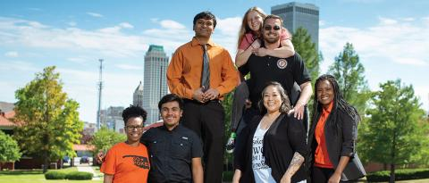 Members of the 2018-19 OSU-Tulsa President's Leadership Society have made long-lasting friendships outside of group activities.