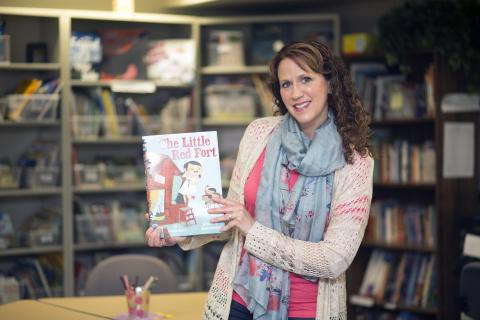 "OSU-Tulsa graduate and children's book author Brenda Maier and her first book, ""Little Red Fort"""