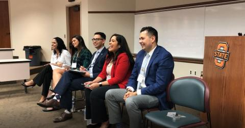 Professional Panel (from left): Jania Wester, Christina Da Silva, Moises Echevarria, Jessica Lozano, James Sanchez