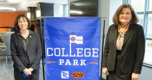 Tulsa Community College President Leigh Goodson and OSU-Tulsa President Pamela Fry at the launch of College Park.