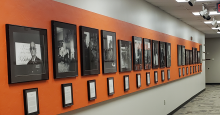 Black Settlers in Tulsa: The Search for the Promised Land shown in its new location in the public gallery outside the B.S. Roberts Room in the OSU-Tulsa Conference Center.