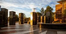 The Ellis Walker Woods Memorial honors the first principal of Tulsa's Booker T. Washington High School.