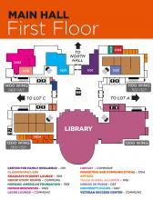 Main Hall, First Floor map