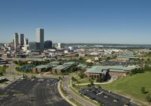 Aerial view of Oklahoma State University-Tulsa