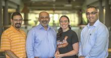 From left: Dr. Khaled Sallam, Dr. Raman Singh, Christine Watson and Dr. Pankaj Sarin.