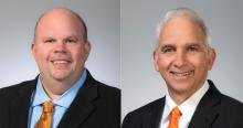 Dr. Johnny Stephens (left) and Chris Benge